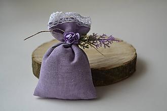 Dekorácie - levanduľové vrecúško - 10230397_