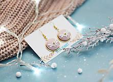 Náušnice - Buttonky v lôžku - kvietky - 10228148_