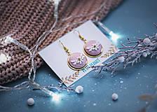 Náušnice - Buttonky v lôžku - kvietky - 10228149_