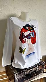 Tričká - Secret - ručne maľované - 10230552_