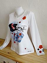 Tričká - Gejsha- Ručne maľované - 10230639_