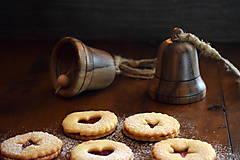 Dekorácie - Vianočný zvonček z orechového dreva - 10228430_
