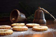 Dekorácie - Vianočný zvonček z orechového dreva - 10228435_