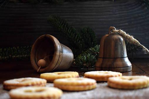Vianočný zvonček z orechového dreva