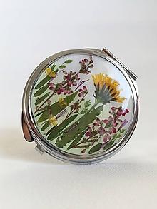 Zrkadielka - Zrkadlo lúčne kvety púpava a vres / A1 - 10228395_