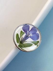 Prstene - Prsteň modrý lúčny kvet v lôžku / LA2 - 10228978_