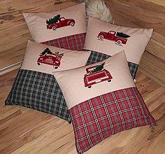 Úžitkový textil - Vianočné vyšívané vankúše