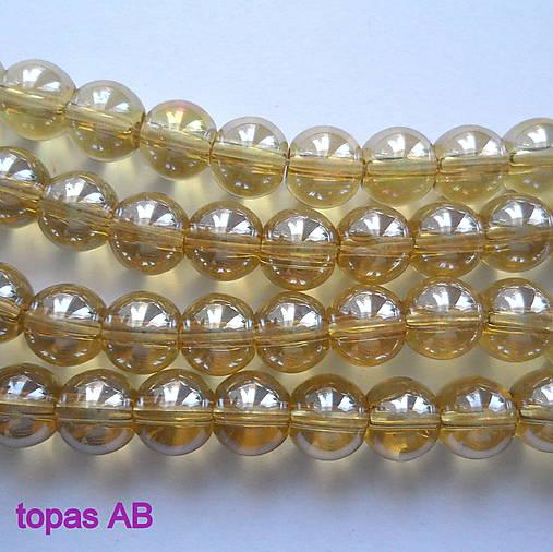 CrystaLine Beads™-8mm-1ks (topás AB)