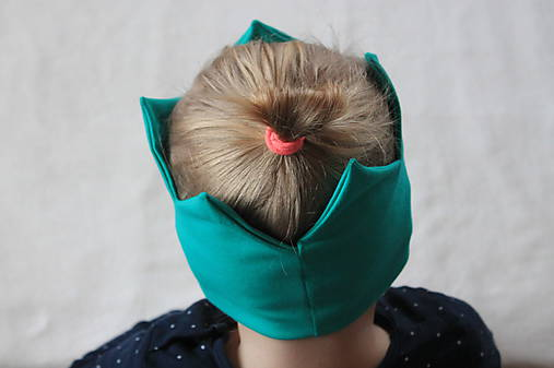 Čelenka UNI smaragdová   denisecko - SAShE.sk - Handmade Detské čiapky 165fc0a2b8