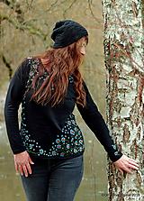 Tričká - Dámske tričko, maľované NEZABUDNI - 10228199_