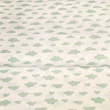 Textil - mentolové obláčiky, 100 % bavlna Francúzsko, šírka 150 cm - 10229942_