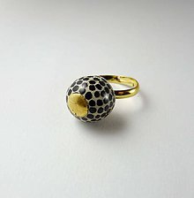 Prstene - Tana šperky - keramika/zlato - 10229110_