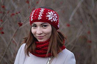 Čiapky - Čelenka červeno-biela, obojstranná - 10227598_