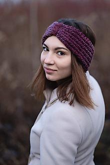 Čiapky - Čelenka fialová melírovaná - 10227638_