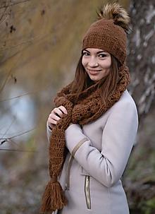 Čiapky - Orieškovo-hnedý set - 10230369_