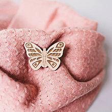Odznaky/Brošne - motýľ ~ brošňa (okánik) - 10230267_