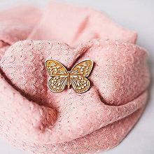 Odznaky/Brošne - motýľ ~ brošňa (hnedáčik) - 10230273_