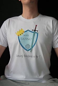 Tričká - Tričko Som tatino potlač biele - 10228625_