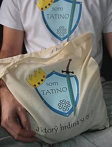 Nákupné tašky - Taška Som tatino potlač natural - 10228829_