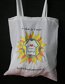 Nákupné tašky - Taška Som mama potlač biela - 10228969_