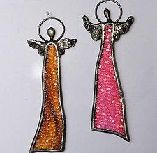 Dekorácie - Anjel - nástenná dekorácia - 10229189_