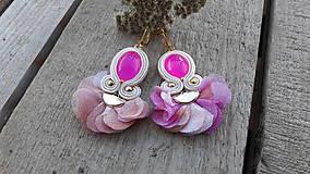 Náušnice - Pink - 10227830_