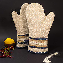 Úžitkový textil - Chňapka - Folk blue - 10228655_