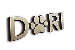 Pre zvieratká - 3D Meno na búdu pre psíka: Shitzu - 10230628_