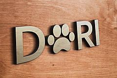 Pre zvieratká - 3D Meno na búdu pre psíka: Shitzu - 10230640_