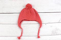 Detské čiapky - Koralová ušianka zimná EXCLUSIVE FINE - 10228685_
