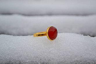 Prstene - Achát prsteň Ag 925 s Au - 10227795_