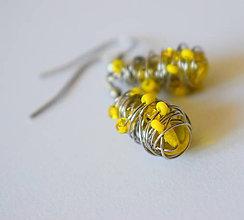 Náušnice - Žlté - 10228295_