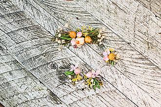 """Ozdoby do vlasov - Kvetinový set """"sladkosť lásky"""" - 10228308_"""
