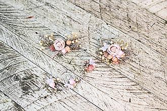 Ozdoby do vlasov - Nežný kvetinový set