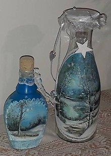 Drobnosti - maľované fľaše - 10229765_