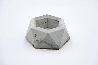 Nádoby - Betónový kvetináč Rebus (S: - Šedá) - 10228542_