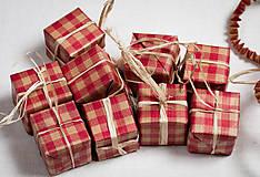 Dekorácie - Papierové vianočné ozdoby - mix - 10230781_