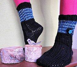 Obuv - Mohérový kvietok ponožky - 10227926_