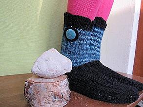 Obuv - Mohérový gombík ponožky - 10227946_