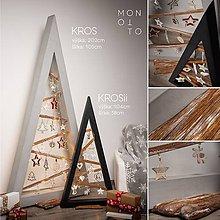 Dekorácie - Betónový vianočný stromček | séria KROS - výška 202cm - 10229209_
