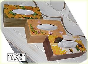 """Krabičky - Držiak na papierové utierky """"Yellow flowers"""" :) - 10228499_"""