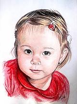 Kresby - dievčatko v červenom... :-) - 10228066_