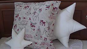 Úžitkový textil - Vianočný vankuš - 10231075_