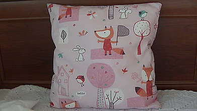 Úžitkový textil - Vankúš pre dievčatko - 10231110_