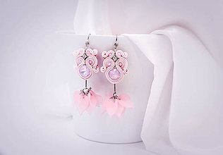 Náušnice - Ballerina - soutache earrings - 10228684_