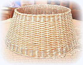 Košíky - Košík - kryt na stojan vianočného stromčeka  prieme 50 cm  (Patina) - 10228038_