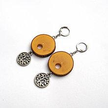 Náušnice - Javorové krúžky + strom života - 10230550_