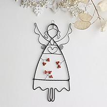 Dekorácie - anjelik s medenými korálikmi - 10232900_