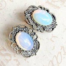 Náušnice - Vintage Amethyst Stud Earrings / Náušnice s opalitom /1321 - 10233274_