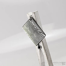 Náhrdelníky - Přívěsek damasteel - Kovové dřevo - 10232621_